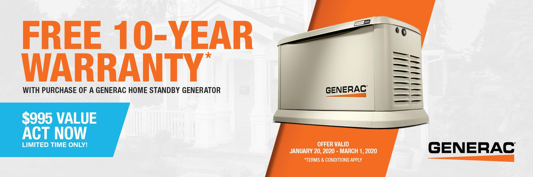 Homestandby Generator Deal | Warranty Offer | Generac Dealer | Baton Rouge, LA